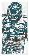 Carson Wentz Philadelphia Eagles Pixel Art 7 Beach Towel