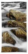 Cascading Water And Rocky Mountain Rocks Beach Towel
