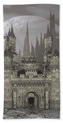 Castle By Night - 3d Render Beach Towel