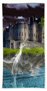Castle In The Sky Art Beach Towel