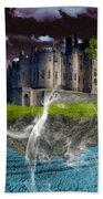 Castle In The Sky Art Beach Sheet