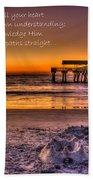 Castles In The Sand 2 Tybee Island Pier Sunrise Beach Towel