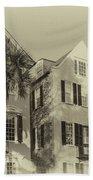 Charleston Style Houses Beach Towel