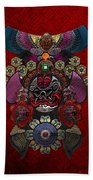 Chinese Masks - Large Masks Series - The Demon Beach Towel by Serge Averbukh