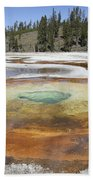 Chromatic Pool Hot Spring, Upper Geyser Beach Towel by Richard Roscoe