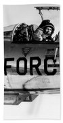 Chuck Yeager, Usaf Officer And Test Beach Towel