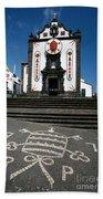 Church In The Azores Beach Towel