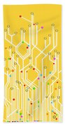 Circuit Board Graphic Beach Towel