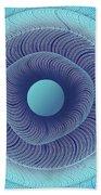 Circular Abstract Art Beach Towel