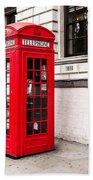 Classic Red London Telephone Box Beach Towel