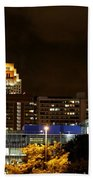 Colorful Sky Above The City On The Shore Beach Towel