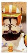 Clone Trooper Commander - Free Style Style Beach Towel