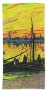 Coal Barges Beach Towel