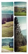 Collage Of Tatra Mountains Beach Towel