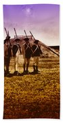 Colonial Soldiers At Fort Mifflin Beach Towel