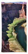 Colorado River Flows Around Horseshoe Bend  Beach Towel