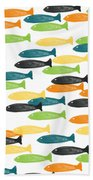 Colorful Fish  Beach Towel by Linda Woods
