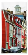 Colorful Houses In St. Johns In Newfoundland Beach Towel