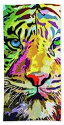 Colorful Tiger Beach Towel