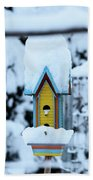 Colors In The Snow Beach Towel