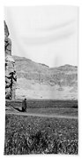 Colossi Of Memnon, Valley Of The Kings Beach Towel