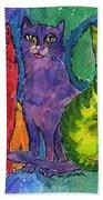 Colourful Cats Beach Towel