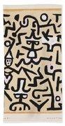 Comedians' Handbill Beach Towel