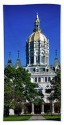 Connecticut State Capitol Beach Towel