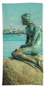 Copenhagen Little Mermaid Beach Towel