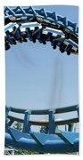 Cork-screw Rollercoaster And Ferris-wheel Beach Towel