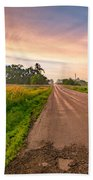Country Road  Beach Towel