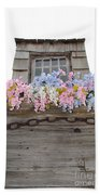 Country Window Beach Towel