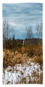 Country Winter 3 Beach Towel