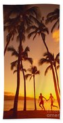 Couples Vacation Beach Towel
