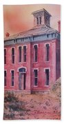 Courthouse Belmont Ghost Town Nevada Beach Towel