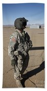 Crew Chief Of A Ch-47 Chinook Stands Beach Towel