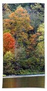 Current River Fall Beach Towel