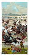 Custer's Last Stand Beach Towel