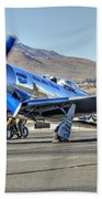 Czech Mate Engine Start Sunday Afternoon Gold Unlimited Reno Air Races Beach Towel