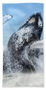 Dances With Whales Beach Towel