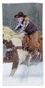 Dashing Through The Snow Beach Towel