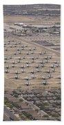 Davis-monthan Air Force Base Airplane Beach Towel