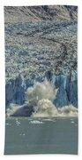 Dawes Glacier Calving #1 Beach Towel