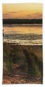 Dawn Waterscape And Wharf Beach Towel