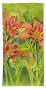Day Lilies Beach Towel
