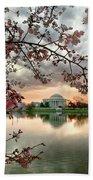 Dc Cherry Blossoms Beach Sheet