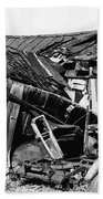 Decaying House Car Ghost Town Pearce Arizona 1968 Beach Towel