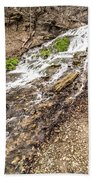 Decorah Iowa Waterfall Beach Towel