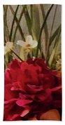 Decorative Mixed Media Floral A3117 Beach Towel