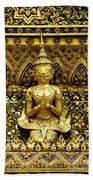 Detail From A Buddhist Temple In Bangkok Thailand Beach Towel